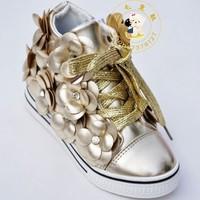 14 autumn children shoes fashion flower rhinestone child single shoes female skateboarding shoes 26 - 30