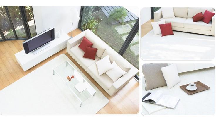 Boa qualidade 80 * 180 cm branco tapetes sob medida Handmade macio tapete para a vida tapetes sala decoração grátis frete(China (Mainland))