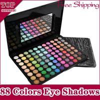 New Professional Fashion Pro 88 Colors Matte Shimmer Eye Shadow Makeup Palette Powder Eyeshadow Eyeshadows Set Free Shipping