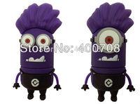 Cute purple Minions super daddy Minion toy 2GB 4GB 8GB 16GB 32GB USB flash memory drive stick thumb drive pen drive 10pcs/lot