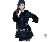 Free shipping 2013 women's new long section of rabbit fur coat mink coat vest Fangga