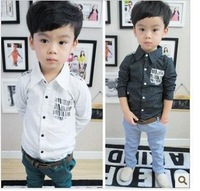 2013 autumn new style boys polka dot full sleeve shirts 5pcs/lot free shipping