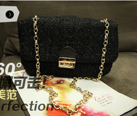 Promotions! Free shipping 2013 Autumn New Wave of European and American Fashion Woolen Bag Handbag Chain bag 3326