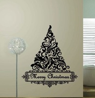 New Arrival!!! Christmas tree pattern Removable vinyl Wall Stickers, home decor, free shipping