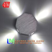 2014 HOT SALE Led 4w colorful wall lamp  heterochrosis  4w wall lights of head