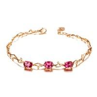 ZOCAI brand 18K rose white 3.0 ct tourrnaline bracelet fine jewelry , 18K white gold avaible 333