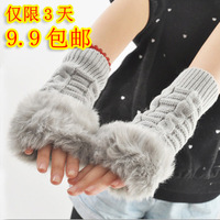 Faux lucy refers to the keyboard long design thermal gloves Women gloves female