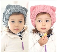 Baby Knitted hat 2013 knitted Kids hats Cotton Beanie Infant hat knitted children hat