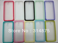 100pcs DHL Free TPU + PC Case Cover For HTC ONE Mini M4 WIth Color Bumper