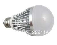 9W LED Bulb E27 FREE SHIPPING good heat dissipation  FIN ALUMINUM alloy housing