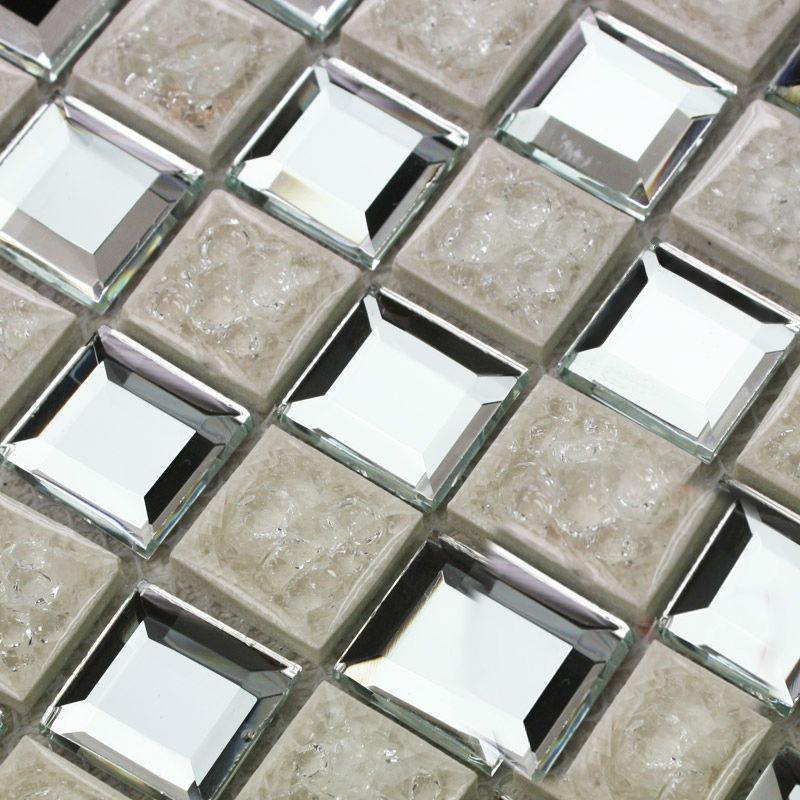 mosaic mirror bathroom wall mirror tiles backsplash stickers kitchen