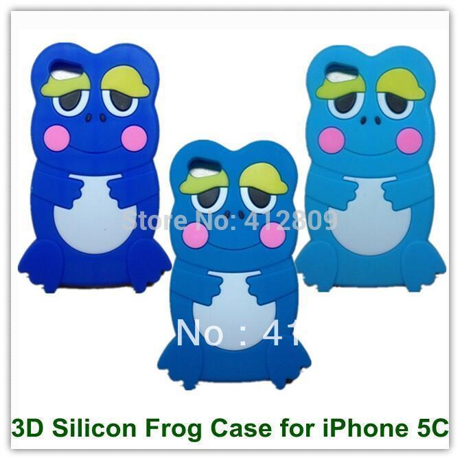 30 ШТ. Горячие Продаж Симпатичный Мультфильм 3D Силиконовые Frog Prince Вернуться Кожных Покровов Чехол для iPhone 5C Бесплатная Доставка pirate frog prince e juice