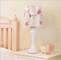 Flower brief modern bedside pink lighting lamps table lamp td-03