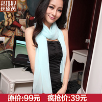 Astory 2013 summer Women solid color lengthen silk scarf mulberry silk scarf s448