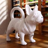 New arrival modern home ceramic dog water bottle water bottle decoration gift