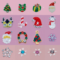 100PCS Alloy 3D Nail Art Rhinestone Christmas Gadget For UV Gel Nail Art Tips Cell Phone Decortaion
