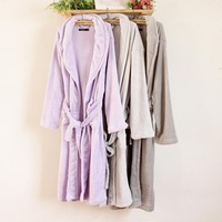Fashion brief soft 2013 autumn and winter blousier robe bathrobes plus size lounge f6