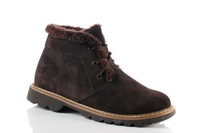 Winter male boots cowhide genuine leather snow boots martin boots plus wool plus velvet plus wool thermal