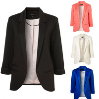 Free Shipping 2013 Women's Outwear Spring Fashion three quarter sleeve  Candy Colors Suits Blazers And Jackets