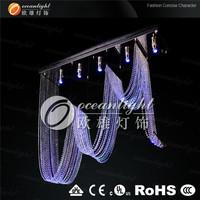 Rotating curtain wave crystal chandeliers,Chandelier LED Crystal Light,with GU10 3W RGB LED L150X30cm OM9559W