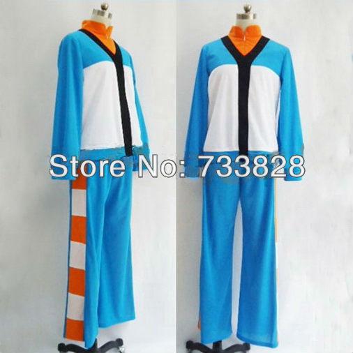 Inazuma Eleven GO academia Cosplay japão uniforme da equipe de futebol roupas Halloween grátis frete A0106(China (Mainland))