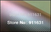 Free Shipping by FedEx  Car Chameleon 3D Carbon Fiber Vinyl Film Wrap 5/10/15/20/25/30 Meters option #A111E