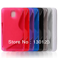 TPU Soft Case S Line Back Cover For Samsung Galaxy Note 3 Note iii N9000 Mobile Phone Accessories 7 Colors Free Shipping