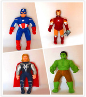 High Quality,40cm/15.5'',Avengers,Captain America,Hulk,Thor,Iron Man dolls, plush toys,Free Shipping
