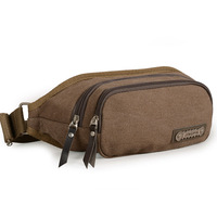 Male waist pack casual canvas waist pack man bag small bags multifunctional waist pack outdoor chest pack small messenger bag