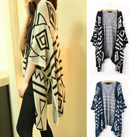 2013 HOT SALE WOMEN'S LARGE SIZE LOOSE THIN KNITWEAR Batwing 3/4 SLEEVE CARDIGAN SWEATER GWF-62293