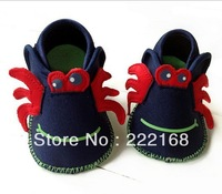 2013 Winter France Original Single Baby Girls Boys Crab Boots Infant First Walkers Toddler Shoes Prewalker Free Shipping