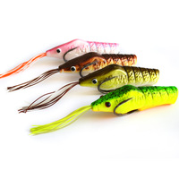 High Quanlity Soft Frog Bait Top Water Freshwater Shrimp Frog Statuesque 75mm 15.5g 10pcs/lot Fishing Lure Free Shipping LW07