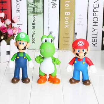Retail Free shipping 3pcs/set Super Mario Bros Luigi Mario Action Figures Toys Doll