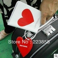 Passport Holder + luggage tag + silicone cable ties, love, clouds