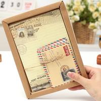 Korea stationery fashion vintage envelope letter pad set multicolour letter pad envelope bag 23254