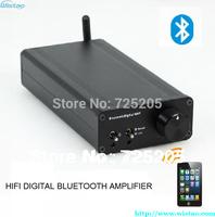 Free Shipping HIFI Bluetooth digital power amplifier PAM2021 2 x 25W Bluetooth 2.1 EDR RCA Aluminum Case