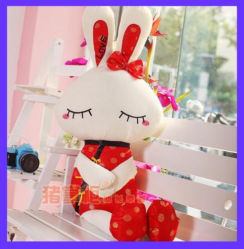 Presente de natal new 2013 feminina sorte coelho amor tang terno amantes do coelho de coelho grande coelho presente de casamento boneca casamento boneca()