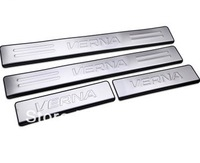 HOT ! 4 pc/lot Rena Welcome pedal steel sill trims special modification