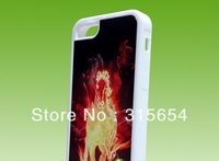 5C DIY Sublimation blank TPU+PC silicone Rubber Case for iphone 5G with Metal inserts and Adhensive , 100pcs/lot