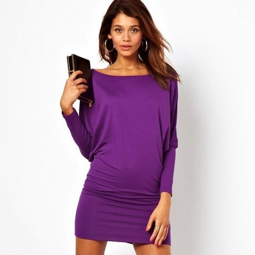 Purple Club Dresses Plus Size Women Purple Club Dress