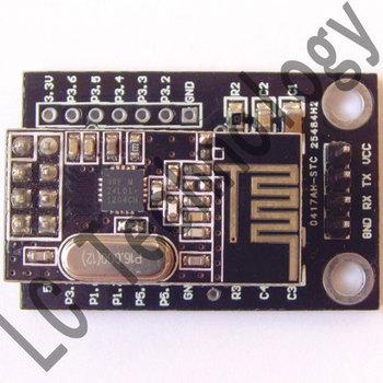 STC15F204 + NRF24L01 wireless passthrough module  wireless serial interface module of wireless development board