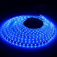 5M 5050 12V DC Blue Waterproof Flexible 150LEDS SMD LED Strip Light Free Shipping
