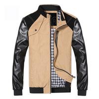 Winter Autunm Fashion Gentleman Men's  Casual Jacket Slim Cotton Outwear Blazer Suit, Size M-XXL, 3 Colors, Free Shipping