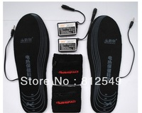whole sale 50 piece/lot,outdoor chargeable battery heating shoe insole by chargeable battery.3 hours warm-keeping outside