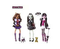 Best sale!2013 New Original Three Styles Monster High Dolls Genuine Clawdeen Wolf/Frankie Stein/Draculaura BBC40  Free shipping