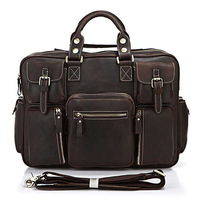 Free shipping by EMS!!2013  Excellent Crazy Horse Cow Leather Men's Briefcase Bag With Laptop Messenger Bag Handbag Purse #7028R