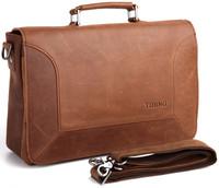 free shipping by EMS!!2013 fashion genuine leather handbag men's bags messenger bag Laptop Briefcase bags shoulder bags 1043