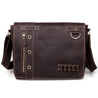 free shipping by EMS!!2013 fashion high quality genuine leather handbag men's bags messenger bag man totes shoulder bags 10063
