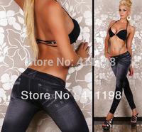 2014 FALL WINTER Women's Fashion Leggings lady Stretch Skinny Leg Pants Cheap LEGGING DWX1001 Black, blue 2 colors