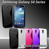 200pcs S Line SLine tpu Wave Gel Case Cover For Samsung Galaxy S4 IV i9500 (14 colors) free shiping